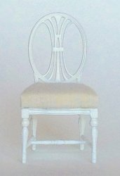 Dianna Gustavian Chair, White, by Maritza Moran for Bespaq