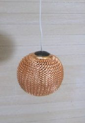 Working Modern Metal Mesh Ceiling Light, Copper