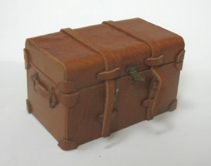 Brown Leather Trunk