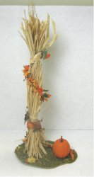 Cornstalk with Pumpkin