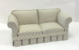 Country Style Sofa, Green-Gray