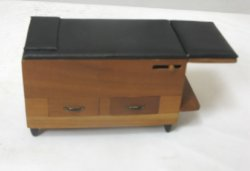 Medical Examining Table, Brown & Black