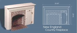 New England Country Fireplace by Braxton Payne