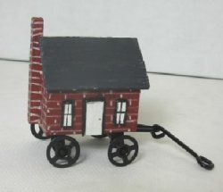 Dollhouse on A Cart, Painted Brick
