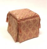 Upholstered Ottoman, Pink