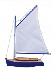 Barnegat Bay Cat Model Sailboat, 15""