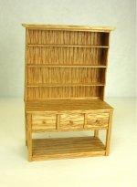 Half Inch Scale Open Hutch, Oak
