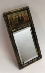 Decorative Mirror with Victorian Women Painting