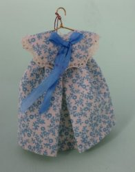 Girl's Dress, Light Blue Floral