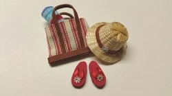 Beach Tote Set, Red