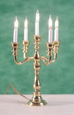 Brass 5-Arm Candelabra, working