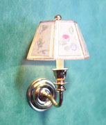 Wall Sconce with Shade, floral, non-working