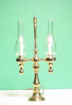 2-Arm Candelabra with Glass Chimney