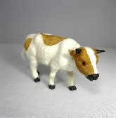 Cow, Standing, Brown and White