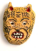 Carved Mexican Jaguar Mask (replica)
