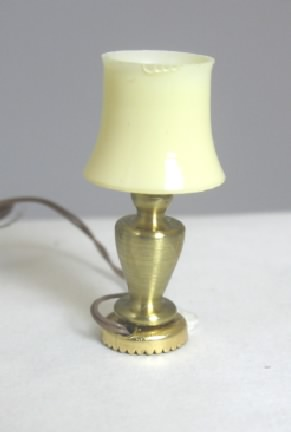 "1/2"" Scale Brass Table Lamp, Working"
