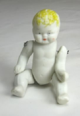 "Antique 2 1/2"" Jointed Bisque Baby"
