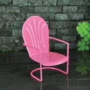Fiddlehead Fairy Garden Retro Chair, Pink