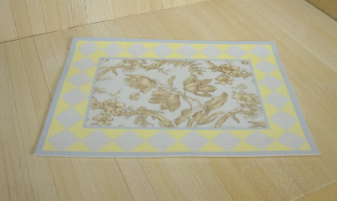Cottage Toile Rug Blue 8 99