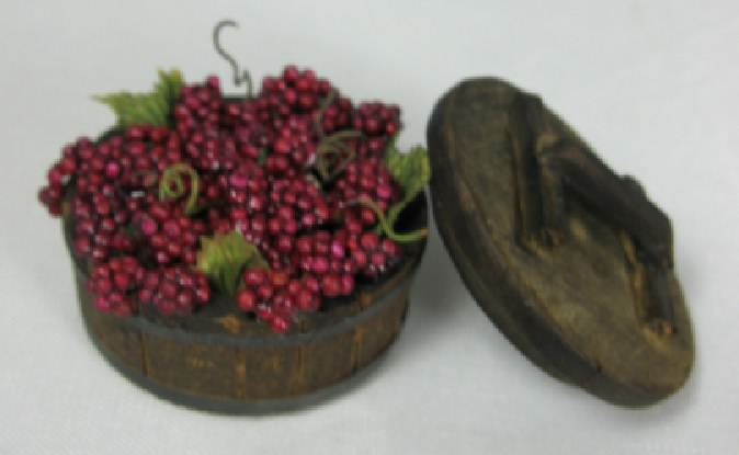 Half Barrel of Red Grapes with Lid