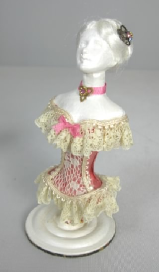 Pink Corset on Mannequin