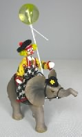 Clown Riding Elephant