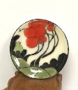 Porcelain Bowl in the Style of Clarice Cliff Red Autumn