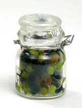 Mixed Olives in Glass Jar