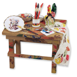 Painter's Table with Accessories