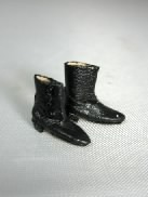 Girl's Black Victorian Boots