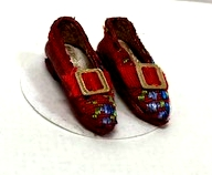 Red Brocade Slippers