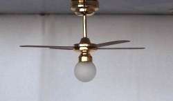 Battery Operated LED Ceiling Fan (fan non-operational_