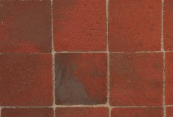 "Real Brick Floor Tiles, 3/4"" Square, approx. 100 sq. in."