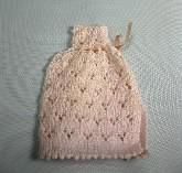 Knitted Baby Cape, Pink
