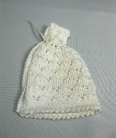 Knitted Baby Cape, White