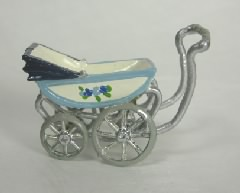 Tiny Metal Baby Carriage by Warwick Miniatures