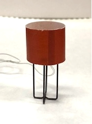"""Astra"" Table Lamp with Red Shade"