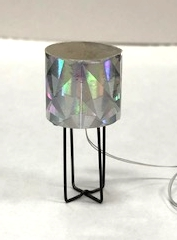 """Astra"" Table Lamp with Silver Shade"