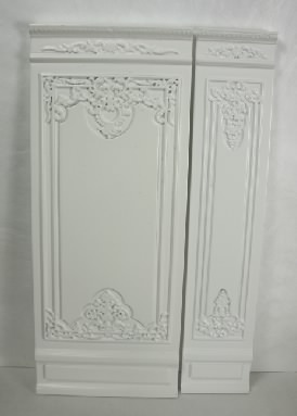 "4"" French Wall Panel, White"