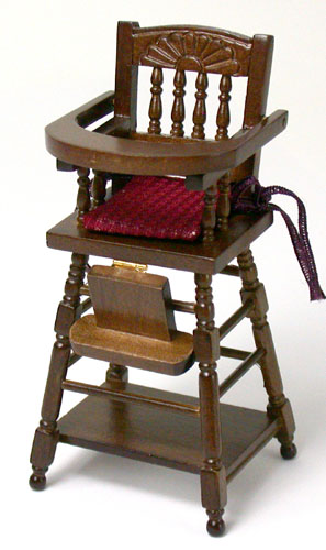 High Chair with Fabric Cushion